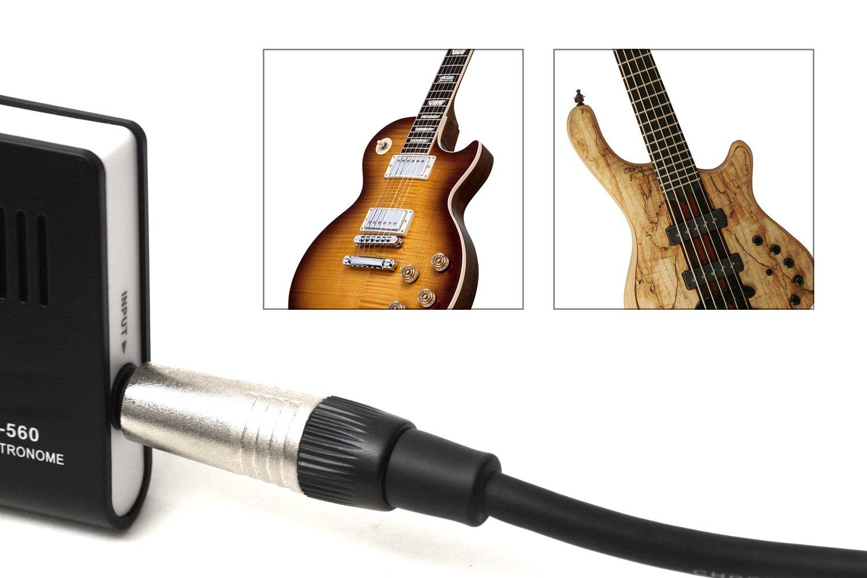 Elagon afinador + metrónomo (AMT-560) Generador de notas Afinador para todos los instrumentos eléctricos y acústicos. 4 Opciones de afinación: Conexión de ...