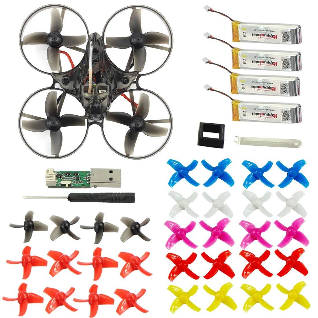 Frsky EULBT Standar Laliva Mobula7 75mm Wheelbase 2S Brushless BWhoop FPV Racing Drone w  Motor Body Shell Transmitter Lipo Battery Kids Toys  (color  Frsky EULBT Standar)