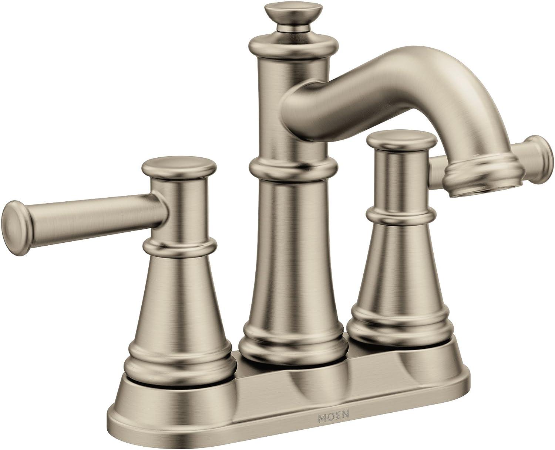 Moen 6401BN Belfield Two-Handle Centerset Bathroom Faucet, Brushed Nickel