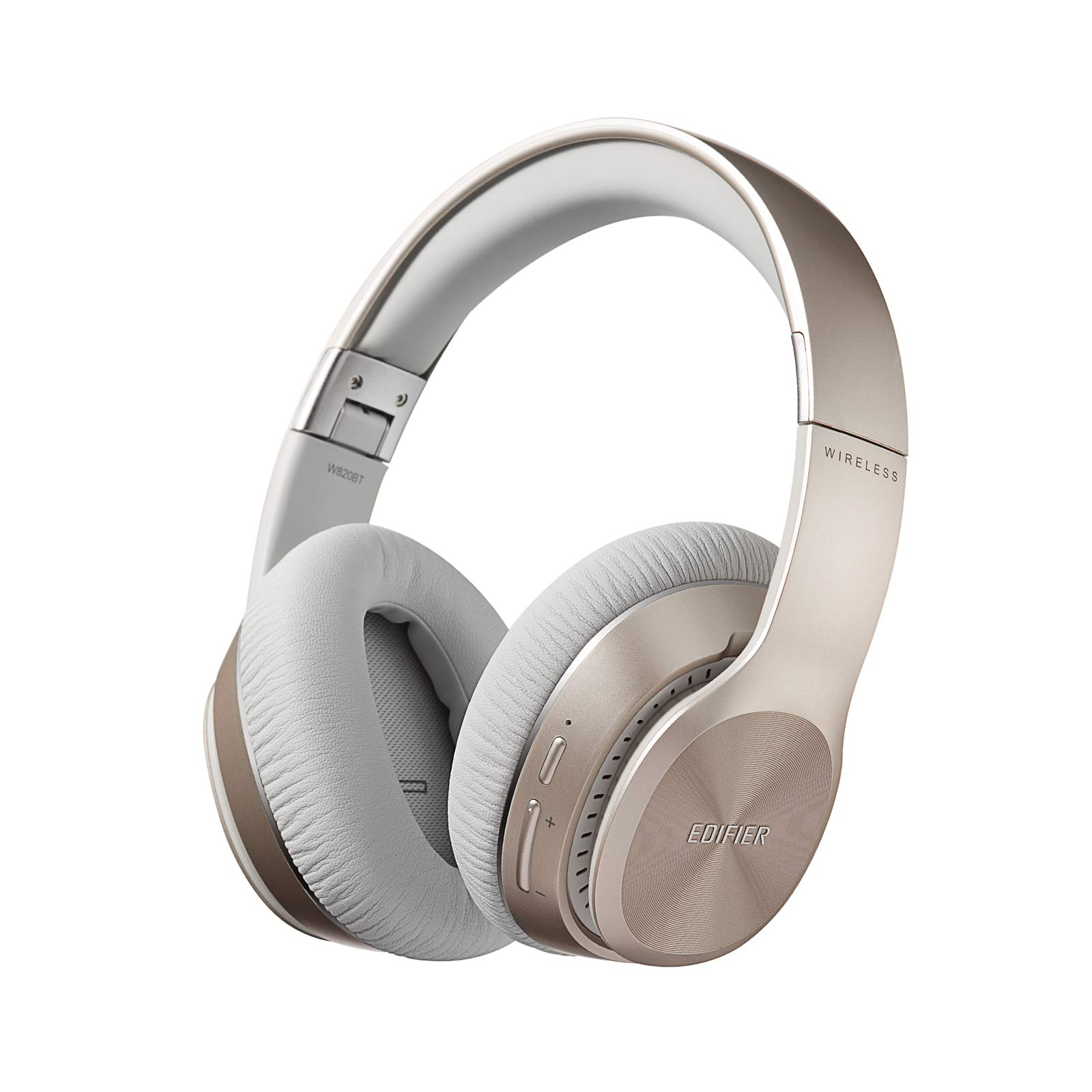 Edifier W820BT Bluetooth Headphones - Foldable Wireless Headphone with 80-Hour Long Battery Life - Gold