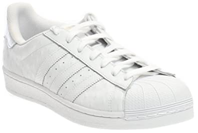 adidas Men's Superstar FTW White/Silver Metallic Ankle-High Canvas Fashion  Sneaker - 8M