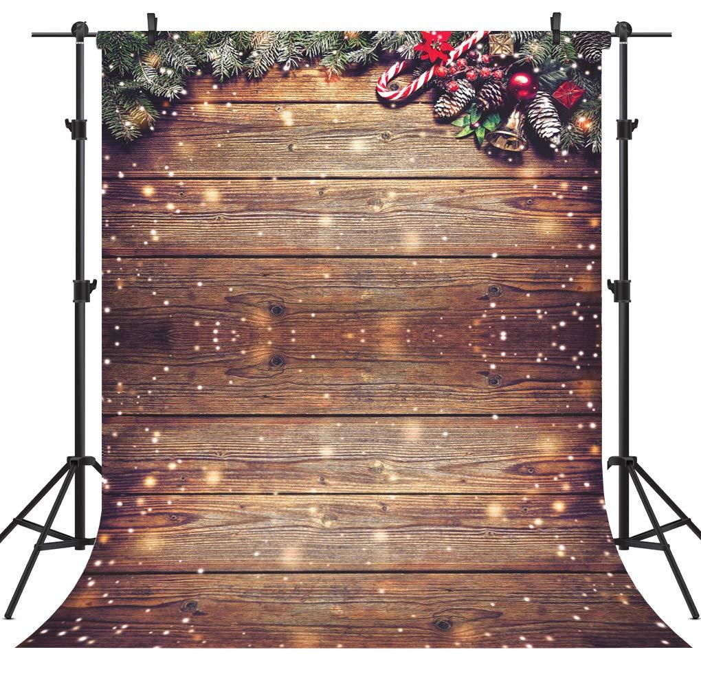OUYIDA クリスマスツリーデコレーション ビニール写真背景 写真背景 スタジオ小道具 CEM01 6X9FT CEM10 B07KS62QXH
