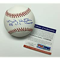 """$78 » Mickey Hatcher Signed Major League Baseball MLB""""88 WS Champs"""" 7A39340 - PSA/DNA Certified - Autographed Baseballs"""