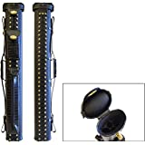 2x2 Hard Premium Pool Cue Case 2B2S Billiard Stick Carrying Cue Case Spring Loaded, (Several Colors Available)