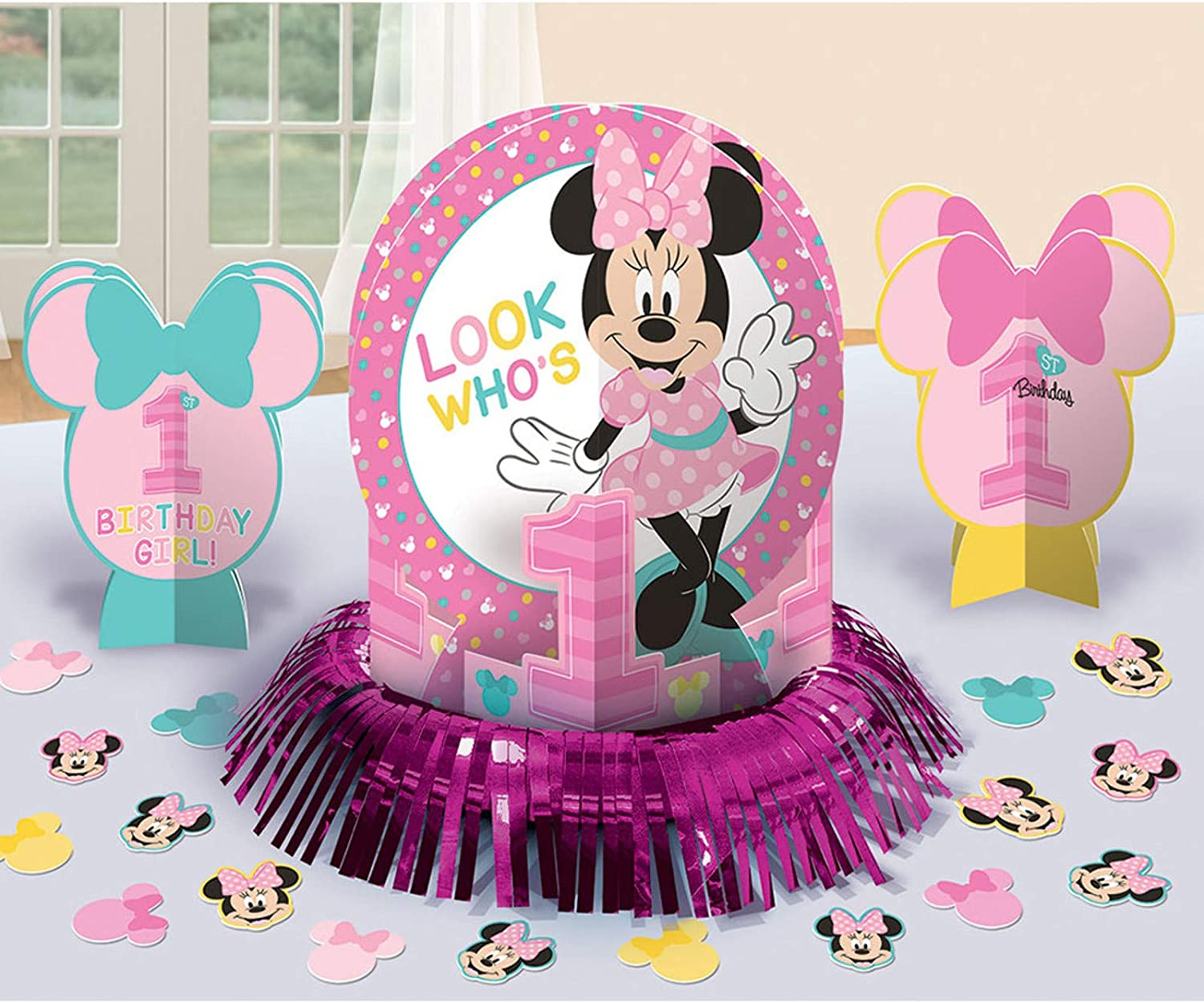 Amazon.com: Minnie Mouse - Decoración para mesa de primer ...