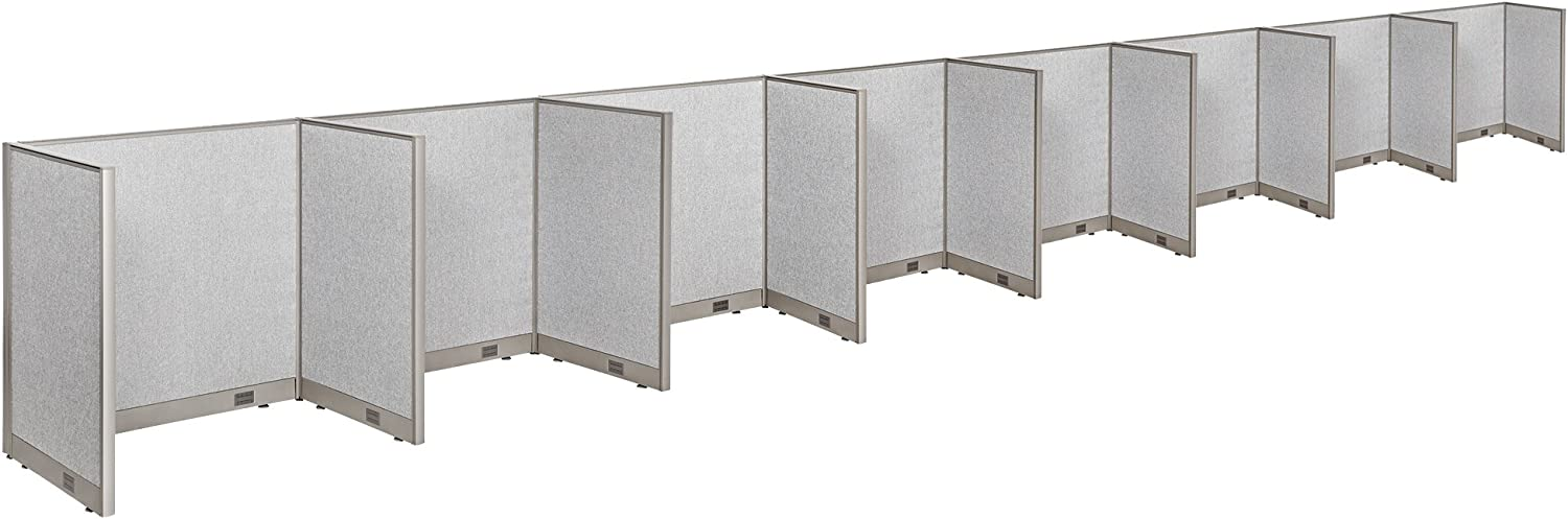 """GOF Cubicle Single 8 Station Office Partition, Large Fabric Room Divider Panel Workstation, 30""""D x 48""""W x 48""""H"""