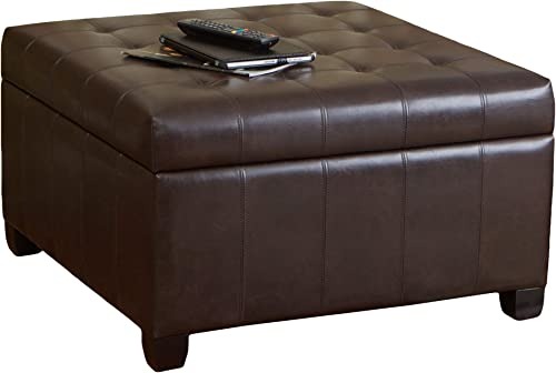 Christopher Knight Home Alexandria Bonded Leather Storage Ottoman