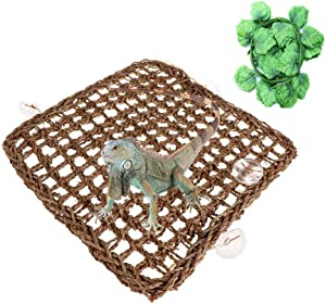 Tfwadmx Lizards Hammock 100% Natural Reptile Accessories for Snacks Anoles Bearded Dragons Geckos Lauanas Hermit Crabs (12X8In)