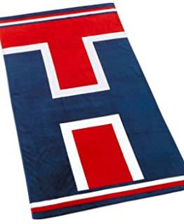 Premium Tommy Hilfigher Tommy Iconic Initials Logo Beach Towel (35 X 66)