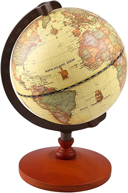 School Globes World HD Vintage Large Table Top Rotating Geographic Map Globe Decoration Office Decoration-12 Inch Creative Gift
