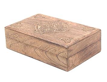 Amazon.com: Caja de almacenamiento KayJayStyles, de madera ...