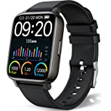 """chalvh Smart Watch, Fitness Tracker 1.69"""" Touch Screen Compatible with iPhone Android, IP67 Waterproof Smartwatch with Heart"""