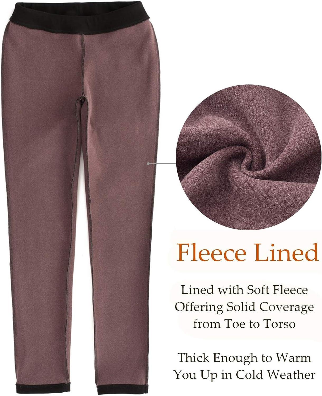 Womens Fleece Lined Leggings Petite//Regular//Tall,25//28//31 Inseam