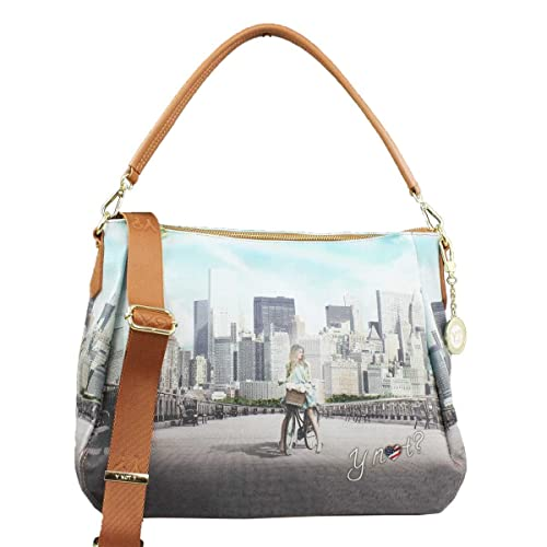 BORSA DONNA Y NOT  SHOULDER BAG BIG APPLE YES BAG J-321  Amazon.it  Scarpe e  borse 908e63377de