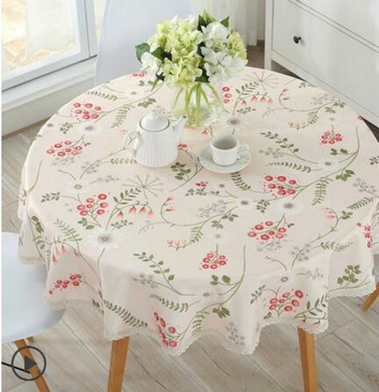 Small Round Table Cloths.Amazon Com Geranjie Round Tablecloths Waterproof Anti Hot Anti Oil