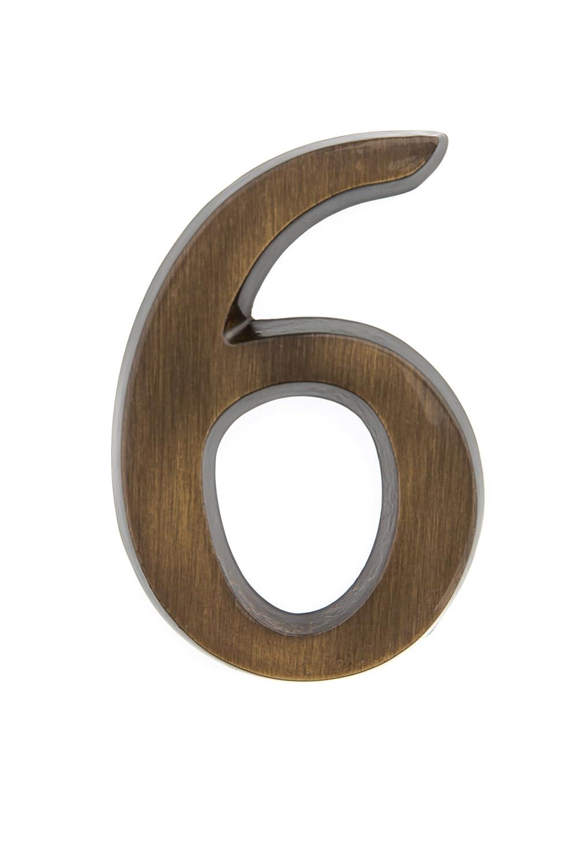 edles dreidimensionales Design 0 Messing antike 10 cm HUBER Hausnummer Nr