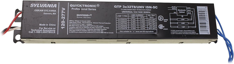 Sylvania Ballast Quicktronic 49945 120 227v Qtp 3x32t8 Unv Isn Sc Electrical Ballasts Amazon Com