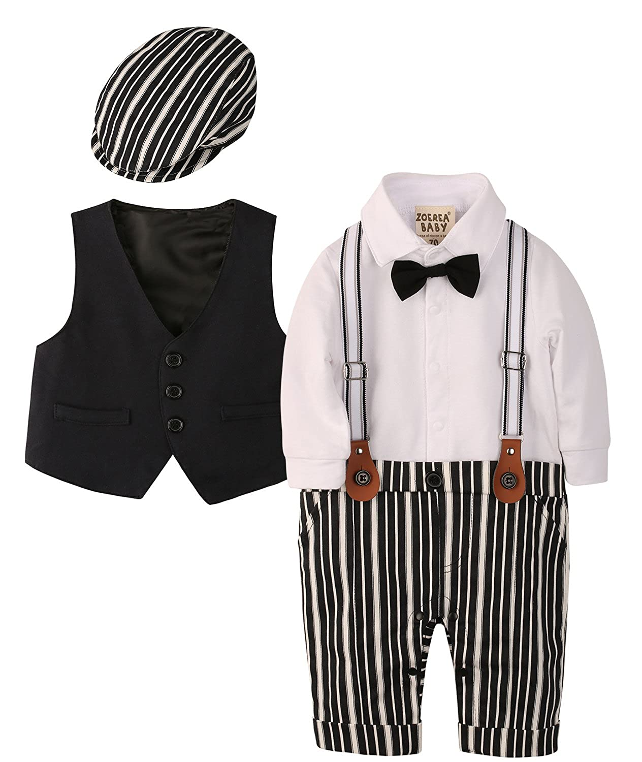 No Color 3pcs Long Sleeves Gentleman ZOEREA Baby Boy Outfits Set Size No Size