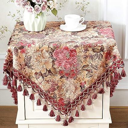 Extra Large Round Table Cloth.Amazon Com Le Fu Yan Fabric Extra Large Round Tablecloth Square