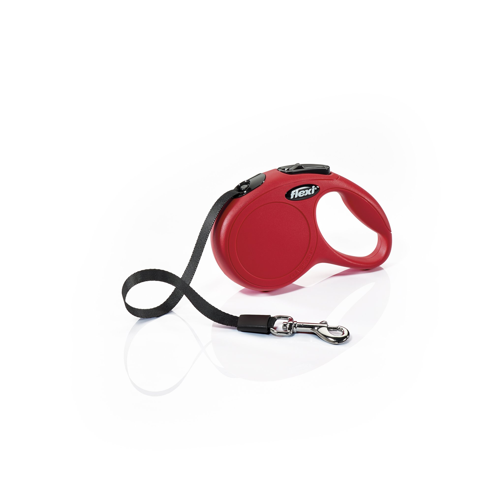 Flexi New Classic Retractable Dog Leash (Tape), 16 ft, Extra Small, Red