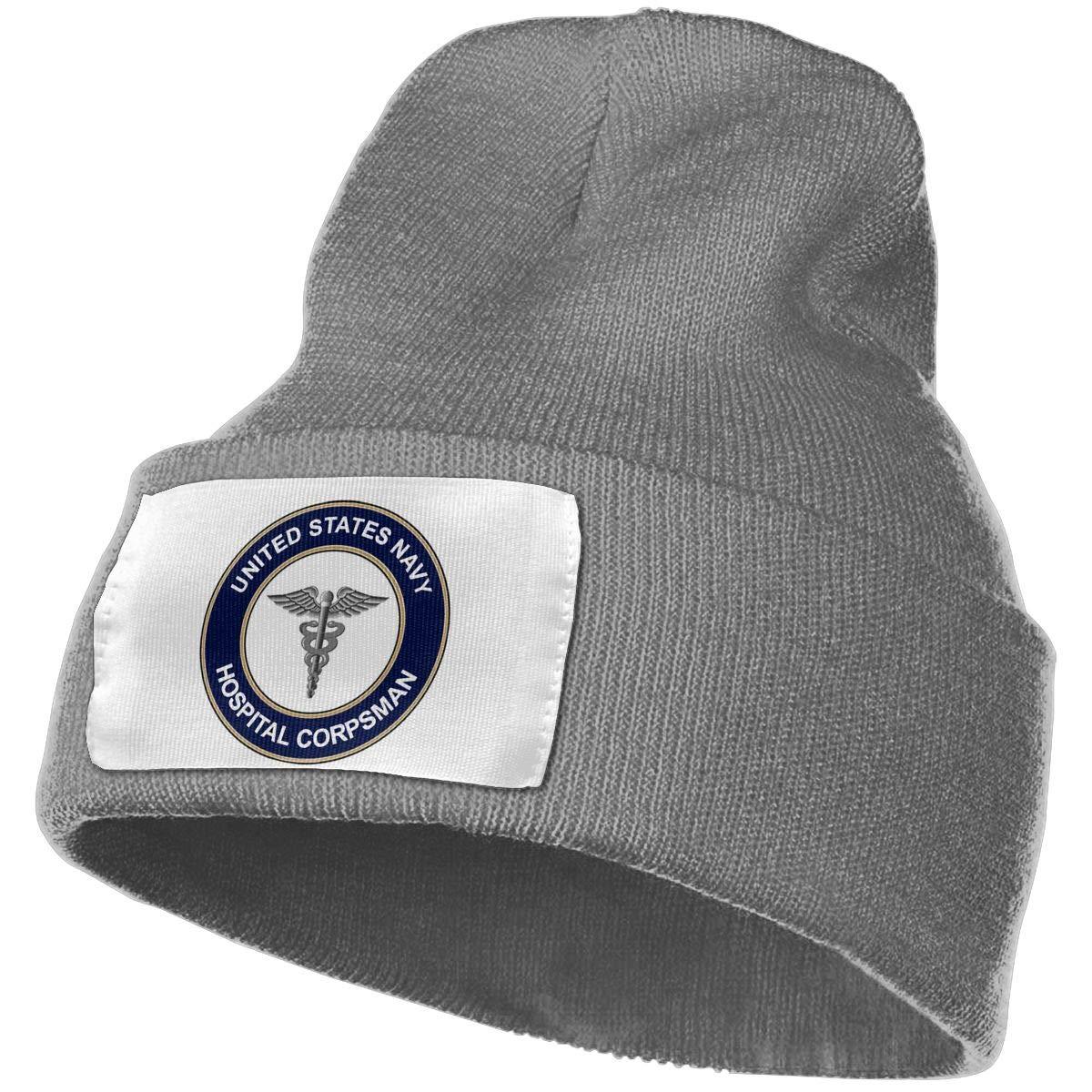 485e9e62a3fee5 Unisex Winter Hats US Navy Hospital Corpsman Skull Caps Knit Hat Cap Beanie  Cap for Men/Womens at Amazon Men's Clothing store: