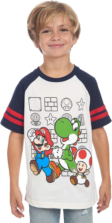 Amazon.com: Nintendo Boys' Super Mario Characters T-Shirt for Kids Little  Boys and Big Boys Tees: Clothing