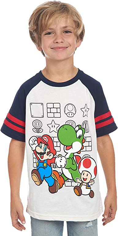 Children/'s Tee Shirt  featuring  SUPER MARIO BROS quality cotton Kids T Shirt
