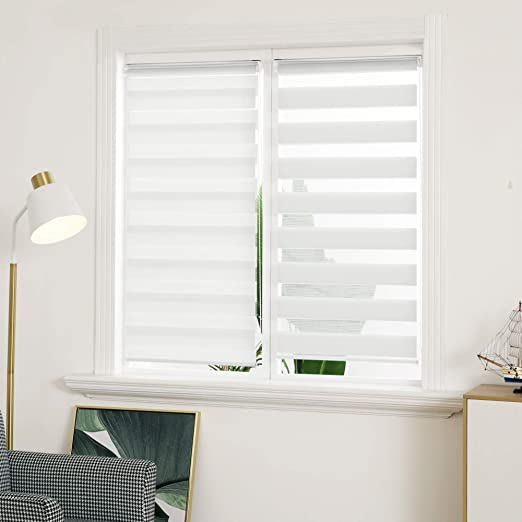 Made to Measure Day Night Zebra Vision Blinds UK Made Amazing Fabrics 10 colours
