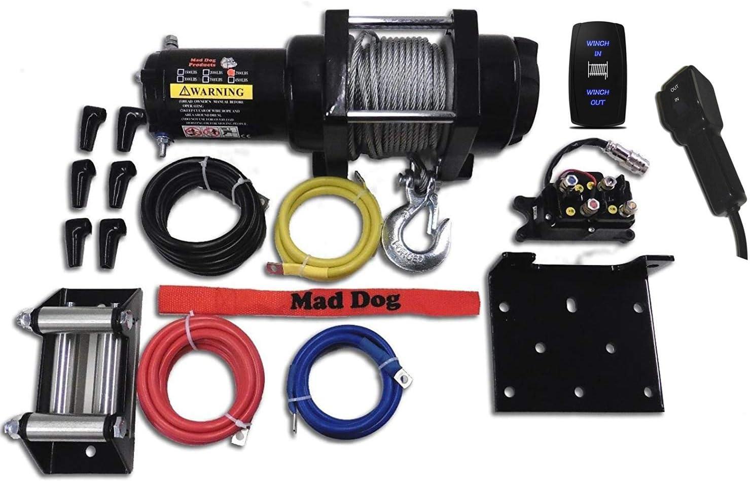 Mad Dog 3500lb Winch Mount Combo Polaris 2015-2020 900 1000 RZR//RZR S//RZR XP
