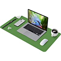 Writing Desk Pad Protector, Dual-Sided Desk Pad, Abetcabe Anti-Slip Desk Mouse pad, PU Leather Office Desk Mat…