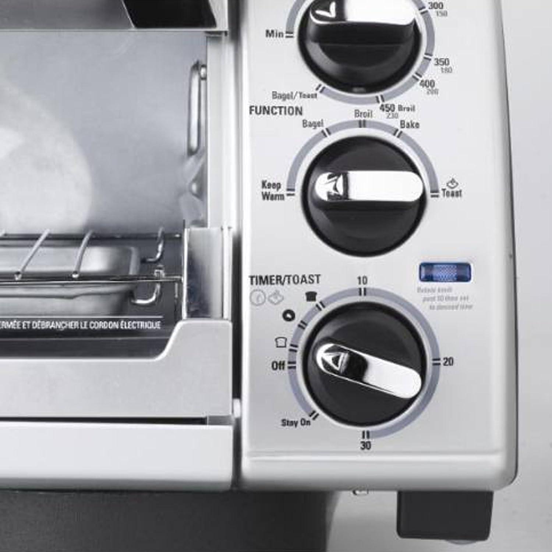 Amazon Black & Decker TRO480BS 4 Slice Toaster Oven Black