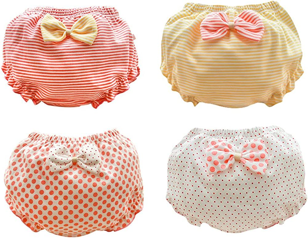 Losorn ZPY Girls Underwear Sweet Girls Baby Nappy Pants Princess Underwear Very Breathable for Drying