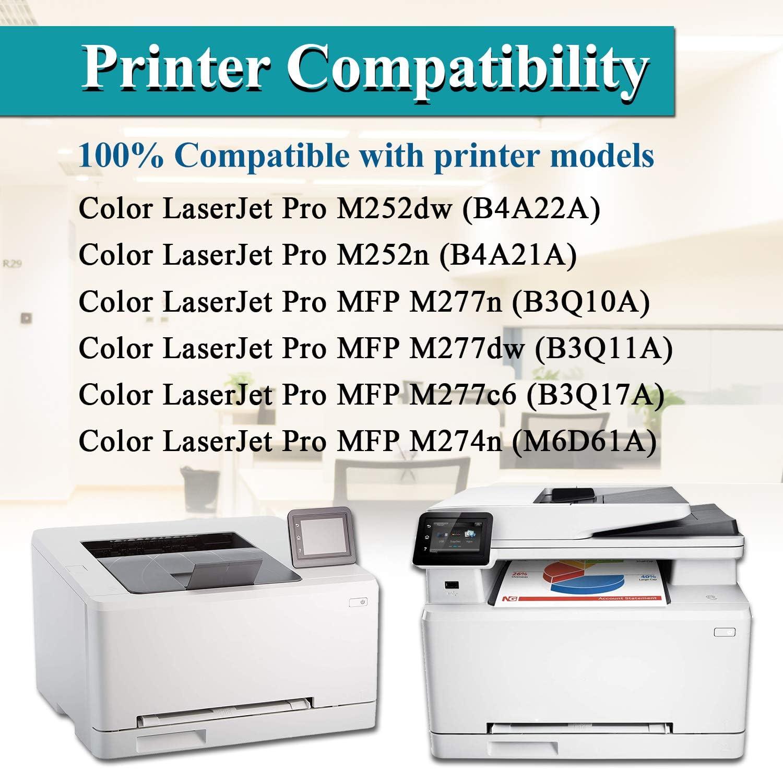 by VaserInk 201A CF401A Cyan Toner Cartridge Replacement for HP Color Laserjet Pro MFP M277n M277dw M277c6 M274n Pro M252dw M252n