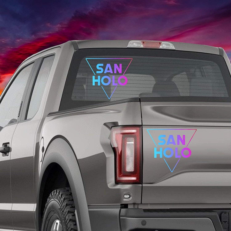 EricauBird Decal Sticker-San Holo Holographic Car Decal Glitter Vinyl EDM Mac Laptop Bumper Sticker Phone Window Wall Art