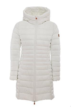 7fe6e80147a1 Save The Duck Women's Coat (S4311W-GIGA5) Off White 3 at Amazon Women's  Coats Shop