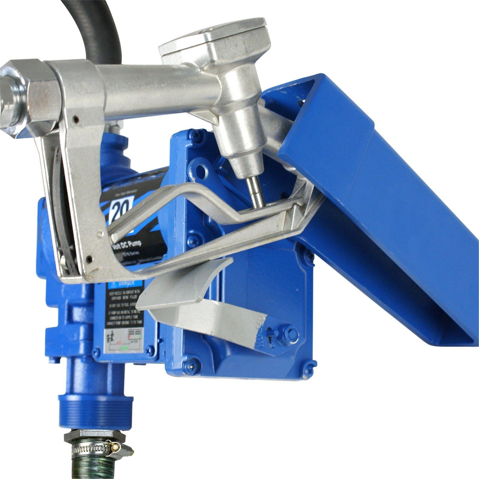 F2C 12 Volt 20GPM Electric Diesel Kerosene Gasoline Fuel Transfer Pump Fillrite Manual Nozzle Hose Kit … Blue by F2C (Image #6)