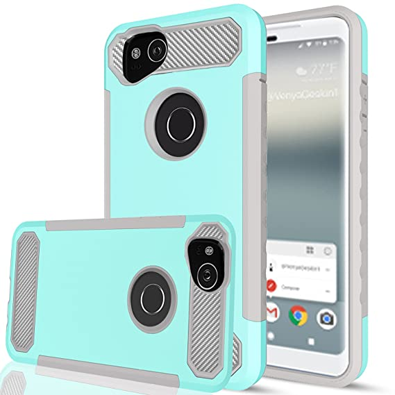 wholesale dealer d6058 e74f6 Google Pixel 2 Case with HD Screen Protector,AnoKe[Prism Series] Heavy Duty  Dual Layer Protective Hybrid Armor Defender Case for Google Pixel 2 TQW ...