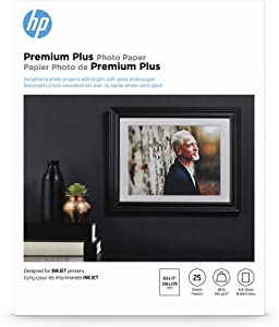 HP Premium Plus Photo Paper | Soft Gloss | 8.5x11 | 25 Sheets