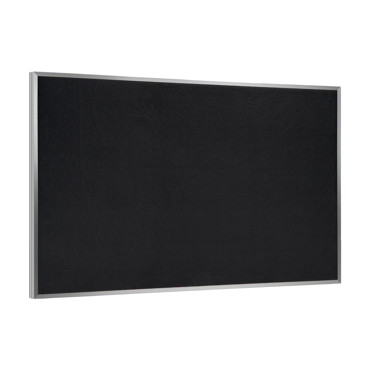 48.5'' x 144.5'' Recycled Rubber Bulletin Board, Solid Black Rubber, Aluminum Frame