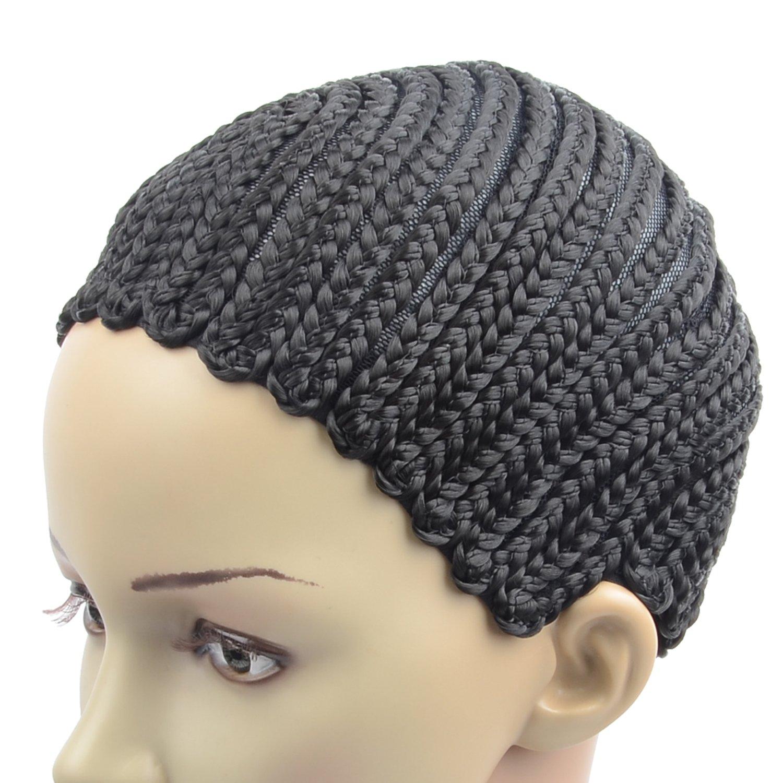 Razeal Clip in Cornrow Crochet Braided Wig Cap Adjustable Medium Size Crochet Wig Cap (U Part) by Razeal (Image #2)