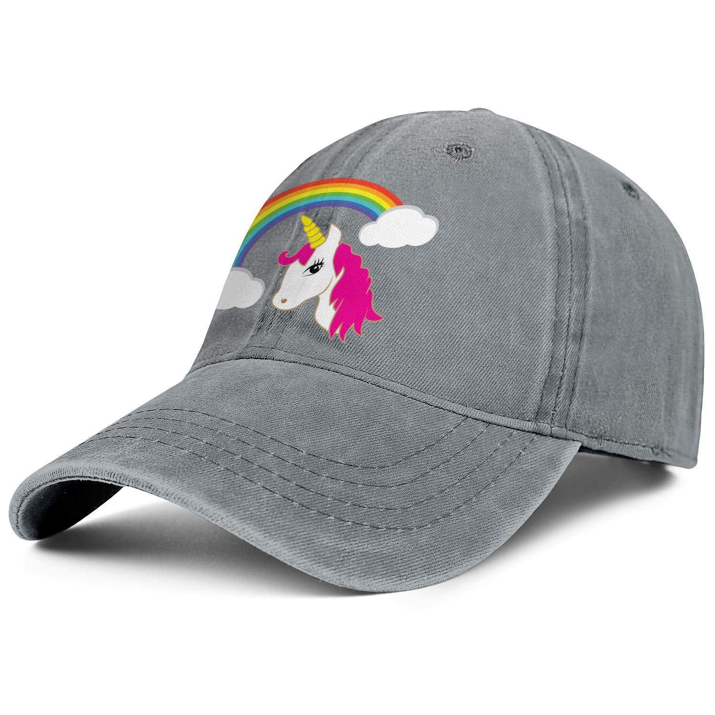 Strapback Caps Cartoon Unicorns Fart Rainbows Adjustable New Athletic Hats for Women//Men