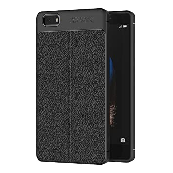 Funda Huawei P8 lite, AICEK Huawei P8 lite Funda Negro Gel ...