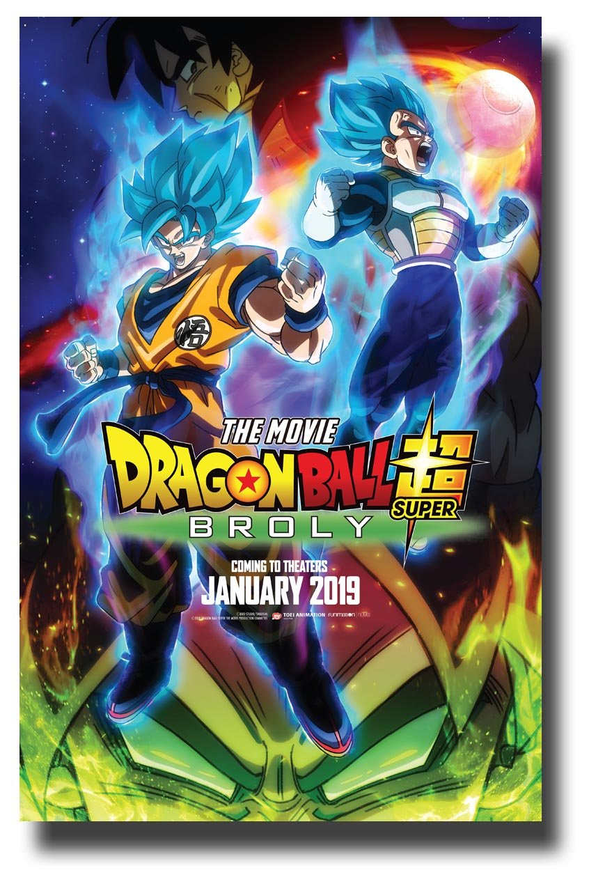 Dragon Ball The Movie Poster Movie Promo 11 X 17 Inches Super Broly January 2019