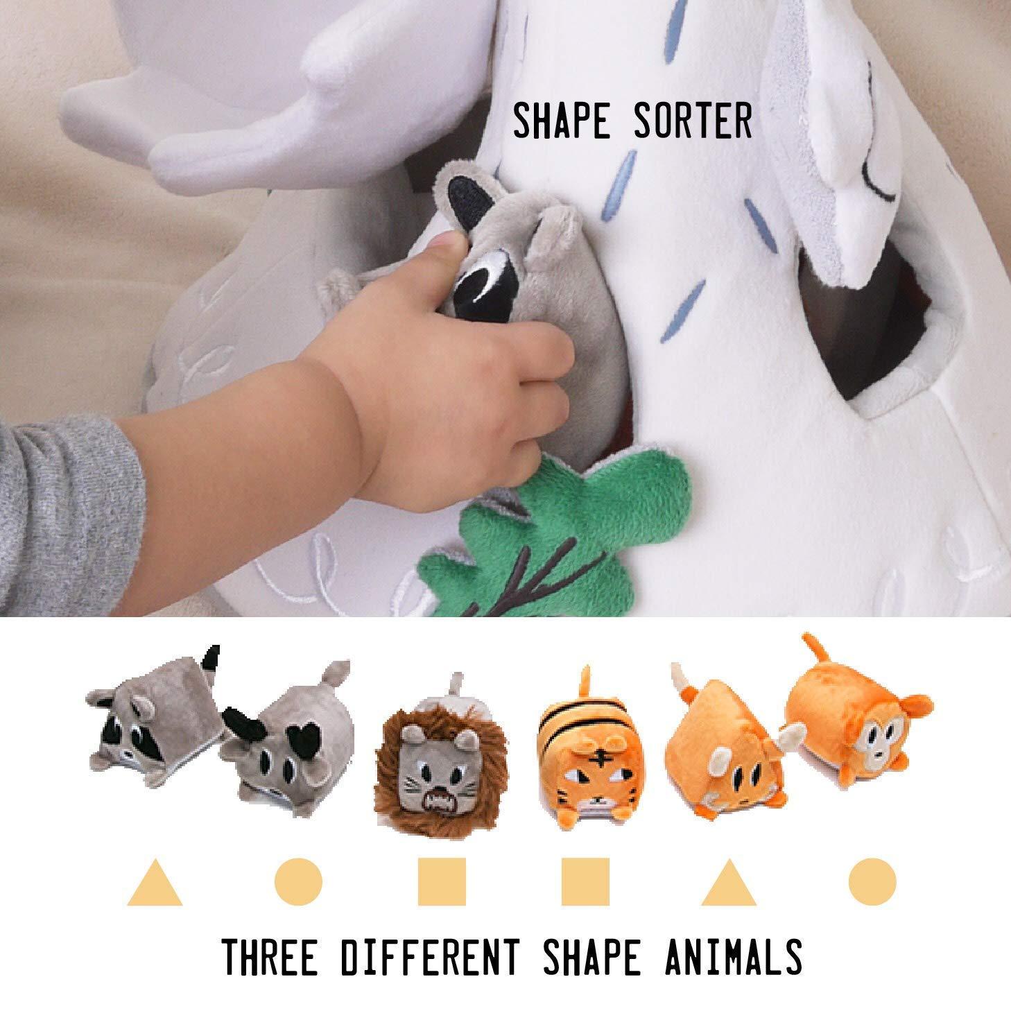 OK!DZO 12'' Mountain & Animal Shape Sorter Plush Developmental Toy Set (16 pcs)- Cognitive & Motor & Social Skills- Fun Bright Colors & Textures for Babies 0-36 Months by OK!DZO (Image #4)