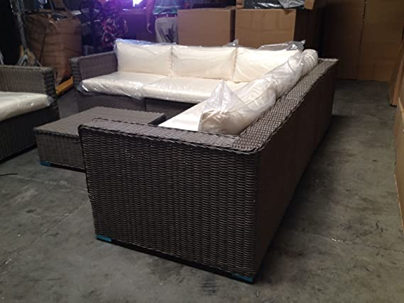 Amazon.com: Distressed sofá, silla y mesa de centro ...