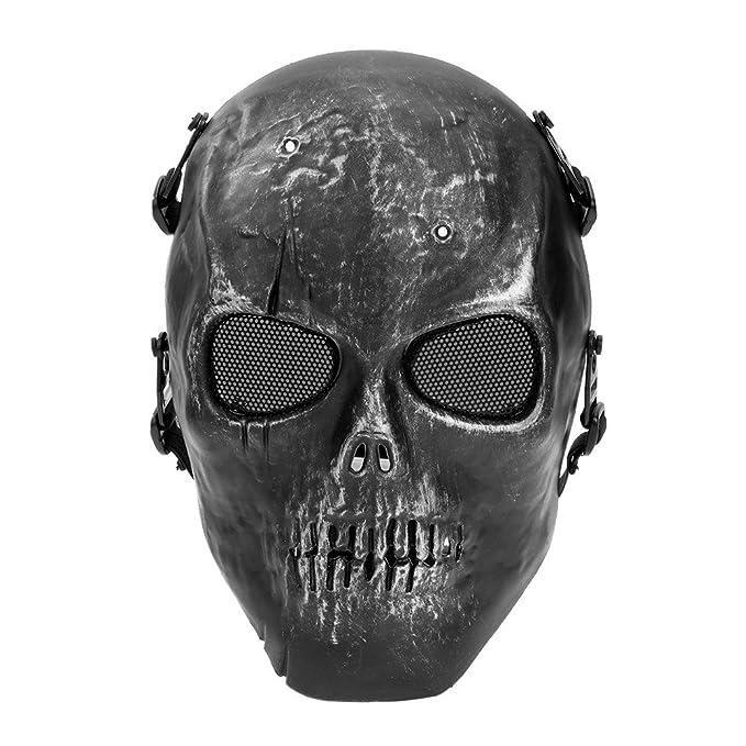 Máscara Protectora Facial Disfraz Cráneo para Juegos CS Combate Outdoor