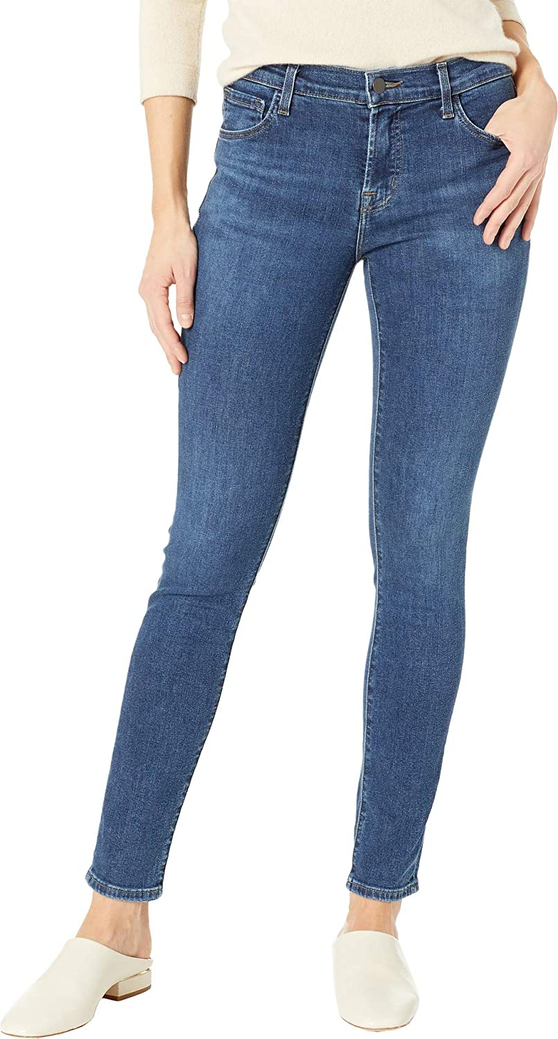 J Brand Womens 811 Mid-Rise Skinny Jeans in Moral