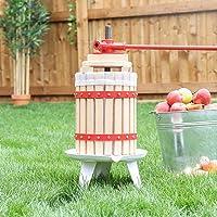 Prensa de frutas de 12 l., madera, Rojo