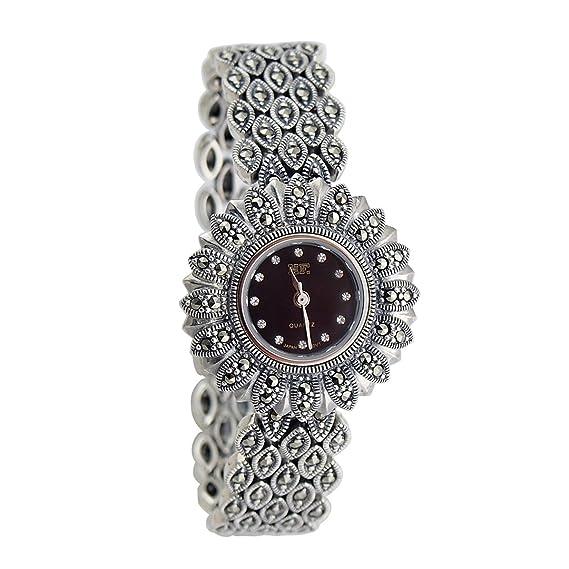 Langii para mujer joyas en plata 925 pulsera relojes cuarzo reloj hfbks1 -7.0)