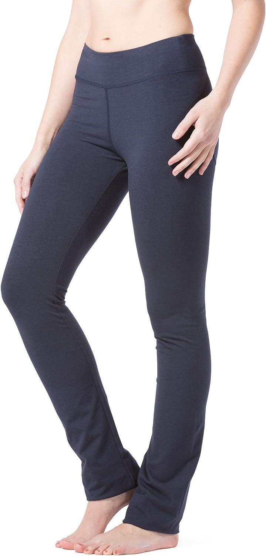 Fishers Finery Womens Ecofabric Straight Leg Yoga Pant with Back Pockets